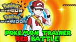 Pokemon Trainer RED Battle in Pokemon Ultra Sun & Ultra Moon
