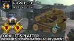 Halo Reach - Worker's Compensation Achievement Guide - Forklift Splatter (Easy Way)